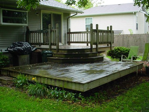 Craig W. Clough, Rock Island, IL - Quad Cities Deck Cleaning and Staining - Before - A