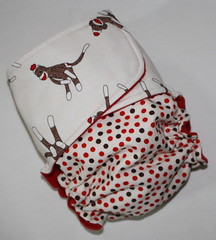 Polka Dot Sock Monkeys Skinny Britches AI2
