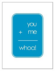 The Love Math - You Plus Me Equals Whoa - Hawaiian Ocean edition (Fika's Art Box) Tags: ocean blue white art love modern print poster word typography cool funny text humor humour math hawaiian romantic plus rectangle