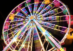 Carnival Colors (Robby Ryke) Tags: longexposure carnival summer colors night canon fun lights tripod amusementpark rides swirls t2i