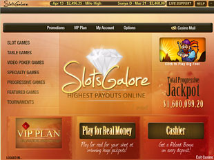 Slots Galore Casino Lobby