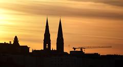 Spires, Dun Laoghaire, Dublin, Ireland (2c..) Tags: city ireland sky dublin cloud church silhouette skyscape evening flickr industrial best 5dmk2 72dpipreview 2c