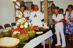Monsignor Calvo at the Lujan House, 1982