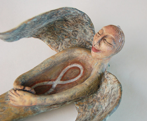 Healing Angel Sculpture by livingstonestudio