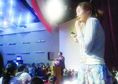 唐骏南京林大讲座遭女生踢馆 组织者称侮辱嘉宾
