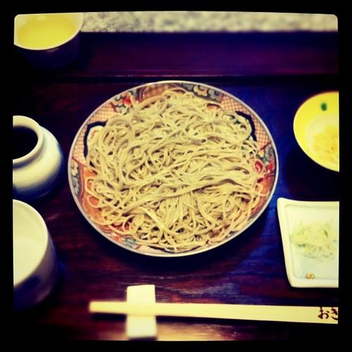 Lunch 4/30 木曽の隠れ家蕎麦屋さん、美味!