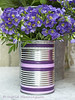 Tin with Washi Tape (Of Spring and Summer) Tags: door flowers blue stilllife flower green art home nature floral leaves garden tin photography petals purple antique interior creative pot pots tape vase romantic antiques vases washi shabbychic washitape ofspringandsummer prettystems