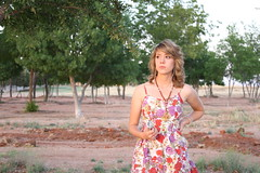 UNEDITED (kailasaur) Tags: trees sunset tree girl field gardens skyline garden pretty texas dress fields kemp haley feild feilds