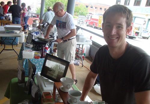Jeremy Caudill, Heliopolis Coffee: Texas Ave Maker's Fair, Spring 2011 by trudeau