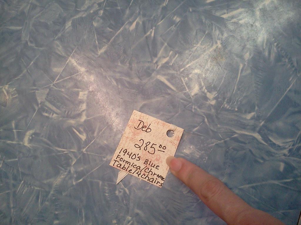 Cracked ice laminate dining set