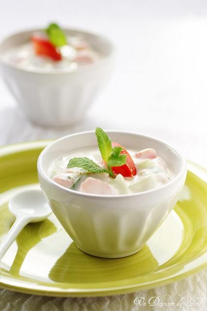 Tomatoes and cucumber raita