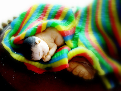 Bebé mexicano durmiendo