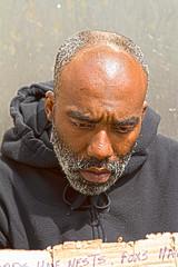 Homeless Man HDR-Human Condition (Joe Sailer) Tags: chicago man men ball buildings joseph state homeless statues indiana joe human muncie hdr sailer condition