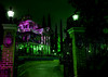 A Truly Haunted Mansion... (Ring of Fire Hot Sauce 1) Tags: lighting green architecture purple disneyland haunted spooky hdr hauntedmansion neworleanssquare canont1i