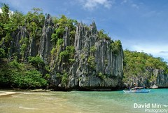 Sabang (Palawan Island), Philippines - Rock formations at a beach on the way to the underground river (GlobeTrotter 2000) Tags: sea summer vacation tourism beach rock sailboat river underground puerto island boat sand asia paradise philippines visit formation tropical sail princesa sabang palawan bangka