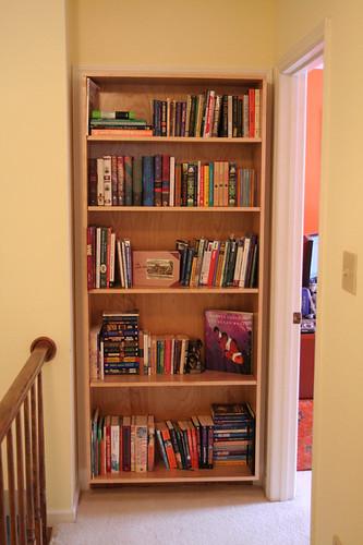hall bookshelf (all filled in)