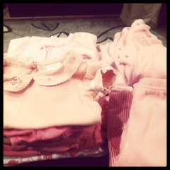 Freshly washed: tiny pink clothes!