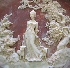 She Walks in Beauty (Enchanticals ~I'm Coming Back) Tags: woman brown detail macro tree nature beauty animals stone female vintage walking 3d walks roots plate romance solo lambs romantic flowing collectible etsy gown 1970s byron signed lordbyron elegance romanticpoets limitededtion bradfordexchange shewalksinbeauty onealone firstplate collectorplates twolambs incolaystone incolay enchanticals enchanticalsetsy creamfirst