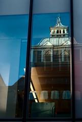 New Biochemistry, Oxford (Eachan J) Tags: new old roof reflection building window glass architecture 50mm education nikon lab university science spire oxford laboratory m42 copper pentacon f18 118 biochemistry d3100