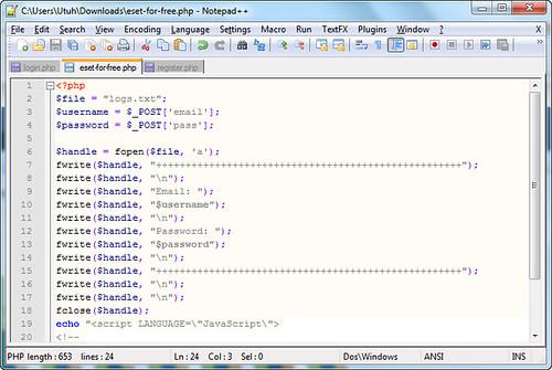 Script Log Untuk Menyimpan Hasil XSS