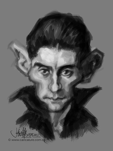 digital sketch study of Franz Kafka - 2