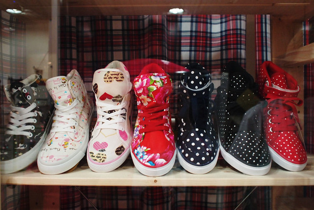 Polka dot & Floral Sneakers