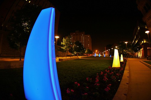 Philly Photos- Drexel University Lights by Darryl W. Moran Photography