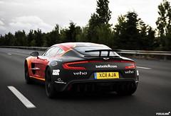Aston Martin One-77 (Pixelklinik) Tags: uk paris france london car speed canon highway kevin martin monaco 28 raccoon 3000 rare aston gumball calais massimo sportscar 2011 1755mm 40d trackshot one77 pixelklinik