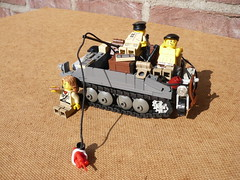 Fishing part 1 (Rebla) Tags: lego wwii ww2 tommygun brengun loydcarrier