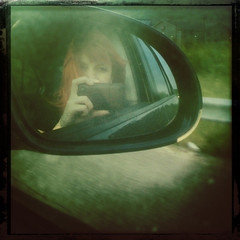 day243 (rainflies) Tags: road selfportrait reflection car mirror driving 365 sideview iphone day243 365project 243365