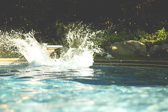 Splash! (Austen Czapla) Tags: blue summer austen water pool self canon 50mm splash 18 timer 2011 czapla 60d