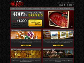 LuckyRed Casino Home