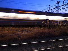 passing train (TRUE 2 DEATH) Tags: longexposure light motion japan train lights traintracks nighttime  kanagawa kawasaki  passingtrain anzen  jeeast ricohgriii grdigitaliii