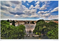 Dal Pincio... (Mem Foto) Tags: blue sky panorama rome roma canon eos cool flickr view place air large wideangle rom lazio villaborghese piazzadelpopolo pincio mem7672