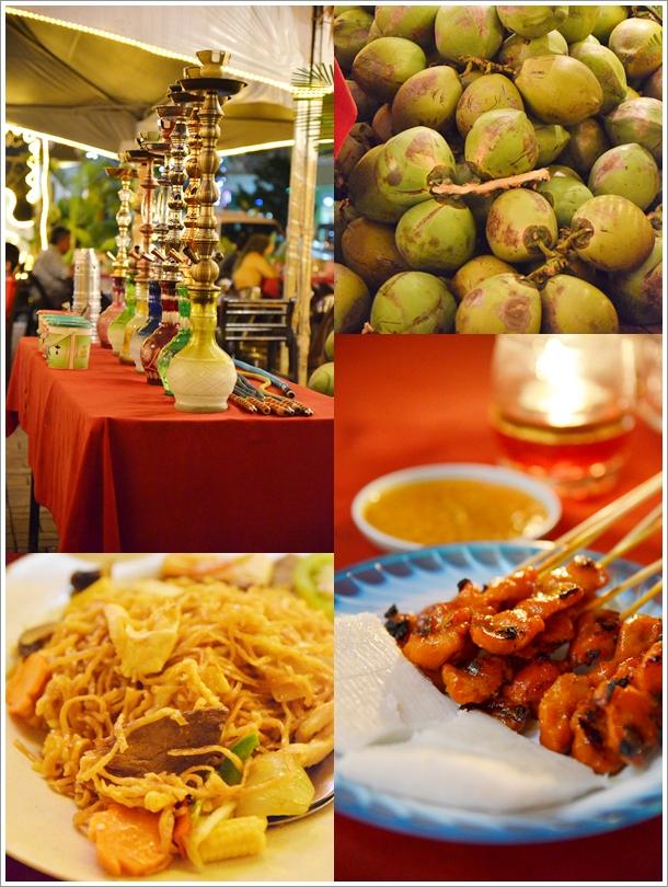 Chicken Satay, Coconut, Shisha, Mee Tuaran