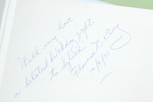 The inscription to my grandma