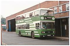 East Midland Dual Purpose Bus 330. (ManOfYorkshire) Tags: c330hwj eastmidland leyland olympian dual purpose seating coach 330 nbc venetianblind livery variation privatised bus doubledecker ecw easterncoachworks frontrunner
