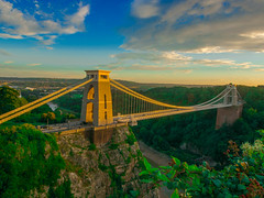 The Sunny Bridge (RS400) Tags: bristol bridge sky blue clouds landscape green grass rope wow amazing wicked south west photo country uk great old road transport