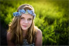 Flowering eyes II (Passie13(Ines van Megen-Thijssen)) Tags: isa stramproy buitenshoot flowering eyes portrait portret girl meisje maedchen canon sigma35mmart netherlands flowers inesvanmegen inesvanmegenthijssen