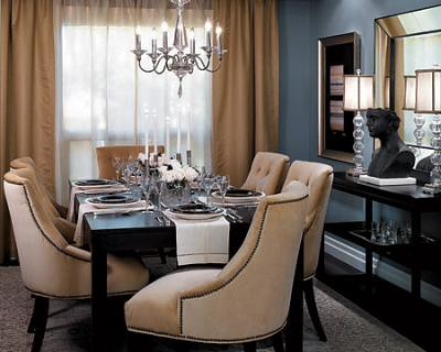 Blue-gray dining room: Benjamin Moore 'Cloudy Sky'