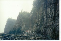 Cliffs at Cape Enrage, New Brunswick, Canada (JarvisEye) Tags: ocean cliff canada rock newbrunswick bayoffundy hazard steep capeenrage