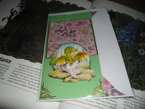 Dragon Decoupage Card
