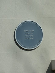 Photo of Marie Hall blue plaque