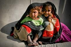 Tent city (Lil [Kristen Elsby]) Tags: unicef girls pakistan girl children asia child play tent editorial dadu topv4444 sindh tentcity southasia idpcamp sindhi idp tentcamp internallydisplacedperson jakhrotentcity