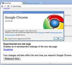 Chrome 12.0.712.0 dev on Windows