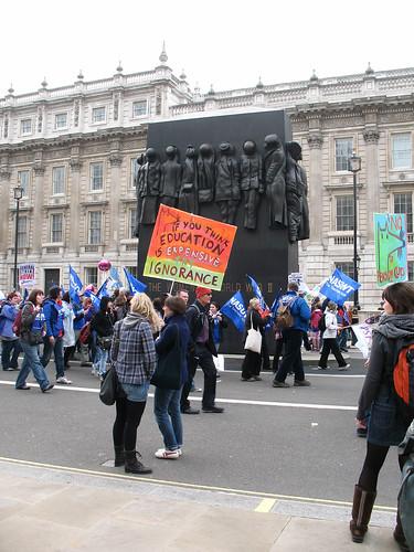 london geotagged memorial demonstration womenofworldwarii whitehall sculptor tuc johnmills tradesunioncongress nasuwt johnwmills anticuts marchforthealternative geo:lat=51503561 geo:lon=0126176