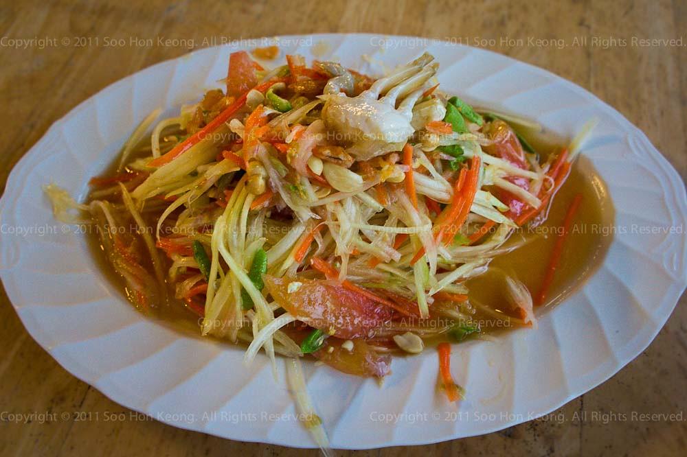 Som Tam Crab @ Cha Am, Thailand