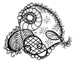 Stacked Swirls-02 (Paint Chip) Tags: doodle lineart zentangle zendoodle
