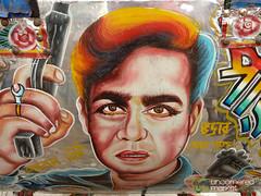 Close Up with Bollywood Rickshaw Art - Rajshahi, Bangladesh (uncorneredmarket) Tags: transport bollywood rickshaw bangladesh rickshawart rajshahi