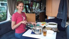 Making Sushi In Motorhome